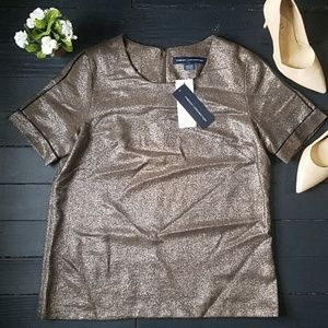 NWT French Connection Shimmer Blouse